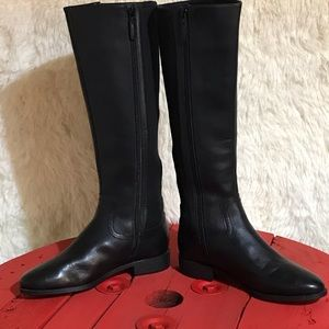 Cole Haan Black Leather Knee high Boots